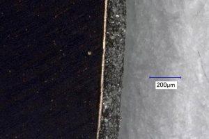 Cutting edge CU 10 (200x magnified)