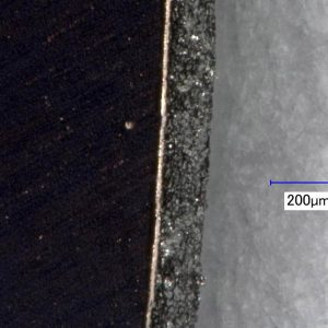 Cutting edge CU 10 (200x magnified)