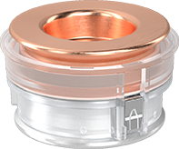 PAT-Core with copper and aluminum plungers and reference electrode